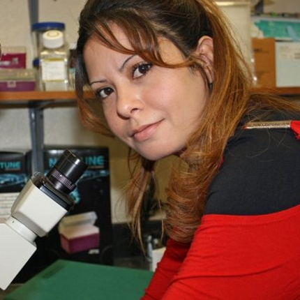 UA postdoctoral researcher Aziza Kamel of Egypt studies environmental viruses to protect humans and crops from contaminated water sources. (Photo by Beatriz Verdugo/UANews)