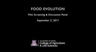 """Embedded thumbnail for """"Food Evolution"""" Discussion Panel"""
