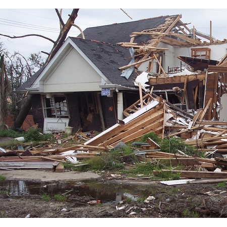 A house in New Orleans that was destroyed by Hurricane Katrina in 2005 (Photo: Stephanie Doster/UA Institute of the Environment)